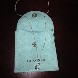 Tiffany Open Tear Drop Necklace